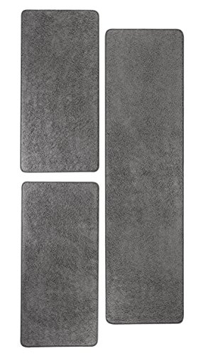 misento 292163 Bettumrandung Shaggy Langflor Teppich, Polypropylen, grau, 0.67 x 0.21 x 0.21 cm