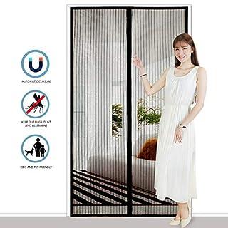 Icegrey Fliegengitter T/ür Insektenschutz Magnet Fliegen Gitter Vorhang Fliegenvorhang f/ür Balkont/ür Wohnzimmer Braun 70 x 200 CM