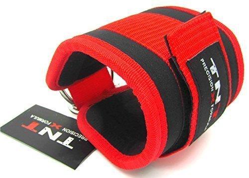 Ankle Strap Neopren TNT schwarz/rot Single 'für Kabel-Maschine Anhang, Multi-Gym Anhang Physio, Yoga, Reha, Knöchel -