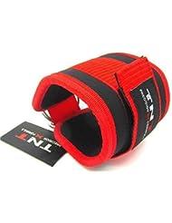 Ankle Strap NEOPRENE Tnt Black/Red Single' For Cable Machine Attachment, Multi Gym Attachment Physio,Yoga,Rehab, Ankle by TNT PrecisionXFormula