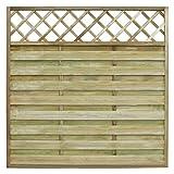 Anself Sichtschutzzaun Holzzaun Gartenzaun aus Holz mit Spalier 180 x 180 cm