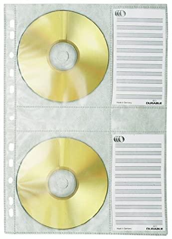 Durable CD/DVD Wallet/Pocket for CD Index A4 for 4 Disks