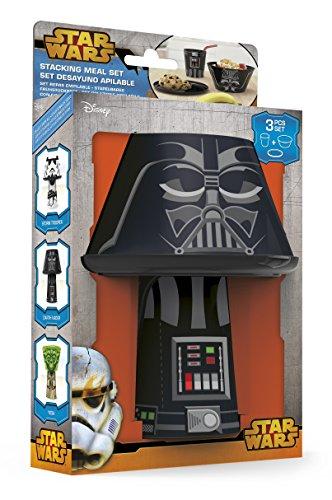 51SrLiKn1iL - Disney Star Wars Darth Vader Stacking Meal Set (Red/Black)