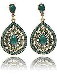 c24eac50b297b FXmimior Bohemio Colorido Pendientes de Cristal de Swarovski Perlas Vintage  Colgante Muticolored Pendientes Mujeres Joya
