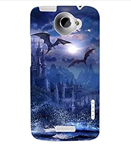 ColourCraft The Dragons Design Back Case Cover for HTC ONE X