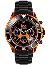 Ice-Watch - ICE Chrono electrik BK Orange - Schwarze Herrenuhr mit Silikonarmband - 013711 (Extra Large)
