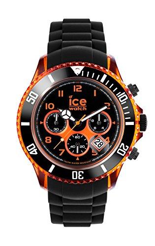 Ice-Watch - ICE Chrono electrik BK Orange - Reloj nero para Hombre con Correa de silicona - 013711 (Extra Large)