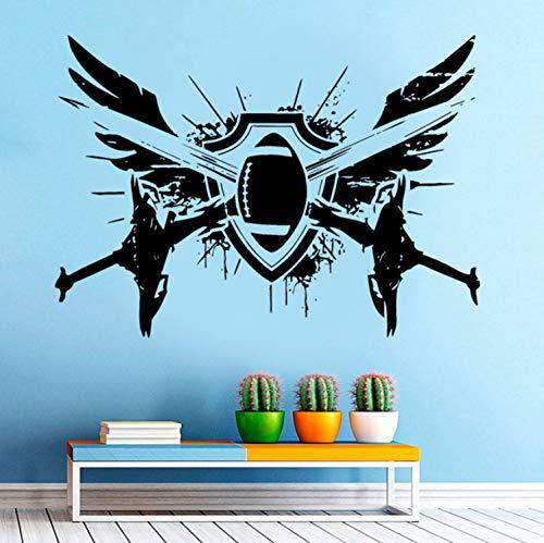 qwerdf Wall Sticker Wall Room Dekoration Art Vinyl Sticker Mural Amerikanischen Fußball-Fan 80 * 57cm