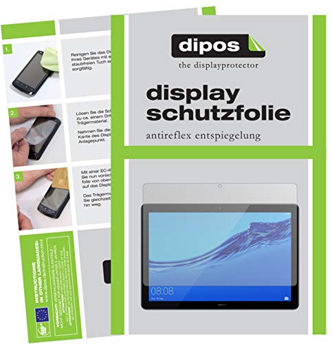 dipos I 2X Schutzfolie matt kompatibel mit Huawei MediaPad T5 Folie Displayschutzfolie