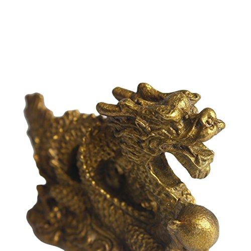 Zoom IMG-3 brass statu mini millennium dragon