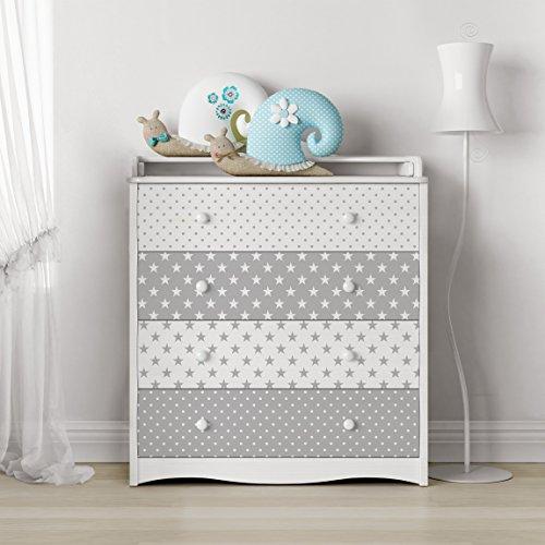 carta-adesiva-per-mobili-grey-white-stars-and-dots-decorative-pellicola-adesiva-pellicola-plotter-pe