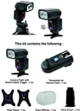 Osaka Camera Flash Speedlite Speedlight TT990 (18-180 Manual Zoom) with inbuilt Radio Trigger and Transmitter for Nikon, Canon, Sony, Olympus, Pentax & all other DSLR Cameras GN72