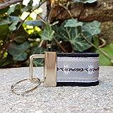 Schlüsselanhänger Taschenanhänger Filz schwarz Webband Edelweiß hellgrau weiß zur Tracht!