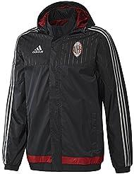 2015-2016 AC Milan Adidas Allweather Jacket (Black)