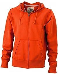 JAMES & NICHOLSON - sweat-shirt veste vintage à capuche - ouverture zippée - JN943 - homme