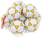 Betzold 100554 - Fußball-Set 10 Fußbälle Größe 5 im Ballnetz - Sport Trainings-Ball Fußball-Training Schulhof Spielplatz