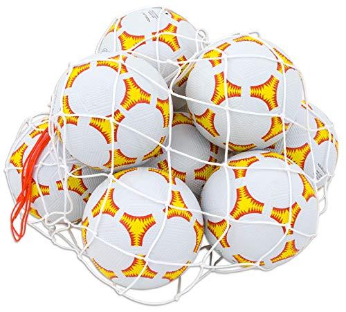 Betzold 100554 - Fußbälle Größe 5 Set, 10 Bälle im Ballnetz - Sport Trainings-Ball Fußball-Training Schulhof Spielplatz