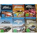 Fast & Furious 1 - 7 - Exklusiv 7 limitierte Steelbook Editionen (inkl. Teil 7 als Leer-Steelbook) - Blu-ray