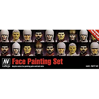 Vallejo Model Color Faces Painting Acrylic Paint Set - Assorted Colours (Pack of 8)