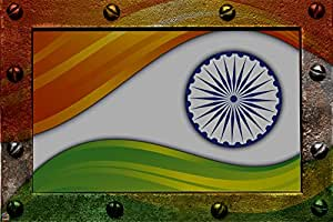 Fool's Desire Independence Day Special 'Indian Flag Frame' (46 x 30.50 cm - A3)