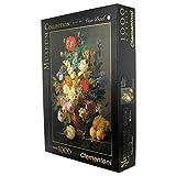Clementoni - Puzzle de 1000 piezas Louvre, diseño Van Dael: Jarrón Con Flores (314157)