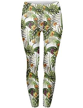 fringoo Mujer Totalmente Impreso Leggings mallas de entrenamiento Pantalones de yoga emoij