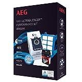 AEG ASKVX8, Filter-/Staubbeutel-Vorteilset für VX8-1, VX8-2-, VX8-öko, Usgreen, USECO, 4 Originalbeutel GR201S, AllergyPlus Filter, s-Fresh Duftgranulat edle Abendrose