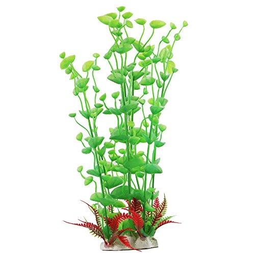 edgeam-fischbehalter-zierpflanzen-33cm-kunststoff-dekor-aquarium-terrarium-grun