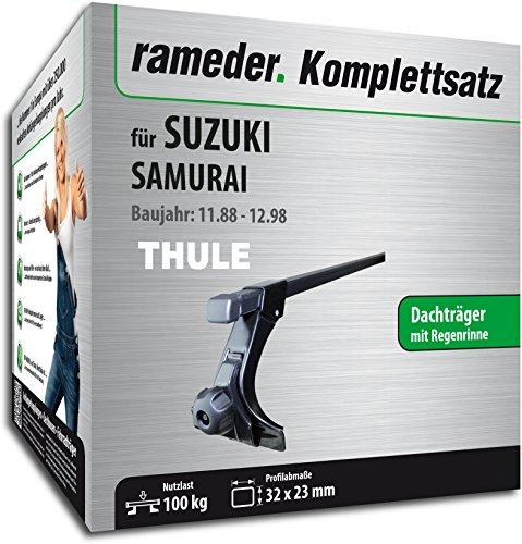 Rameder Komplettsatz, Dachträger SquareBar für Suzuki SAMURAI (115963-01241-1)
