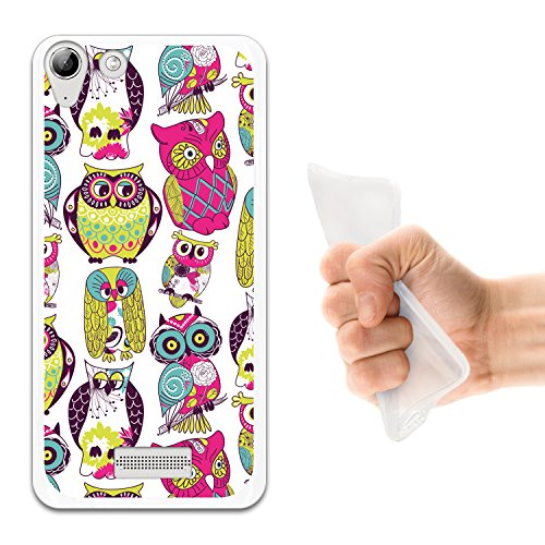 WoowCase Wiko Selfy 4G Hülle, Handyhülle Silikon für [ Wiko Selfy 4G ] Mehrfarbeneulen Handytasche Handy Cover Case Schutzhülle Flexible TPU - Transparent