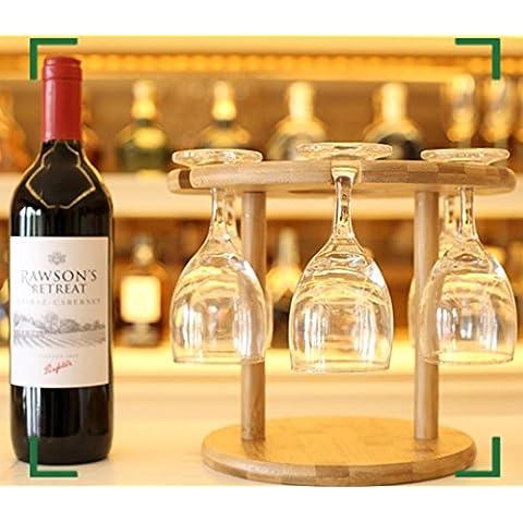 GYX Bambù vino rack bicchiere di vino vino bicchieri vetro