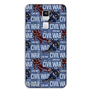 Marvel Civil War PBMAROPPOR7PL11 Action Back Cover for Oppo R7 Plus (Multicolor)