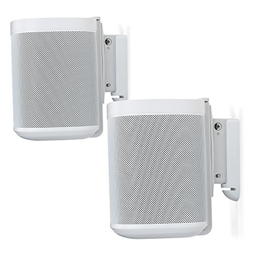 Flexson Wall Mount for Sonos One and Sonos PLAY:1 - White (Pair)