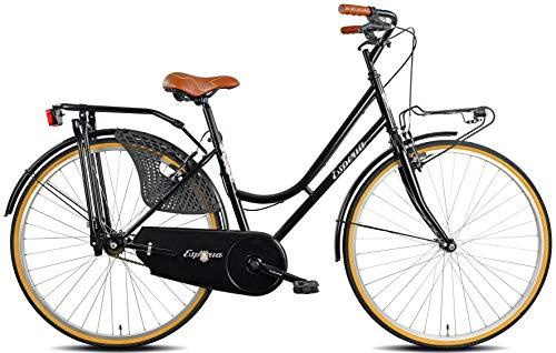 Esperia, Bicicletta da città, Donna, Nero Retrò, 28