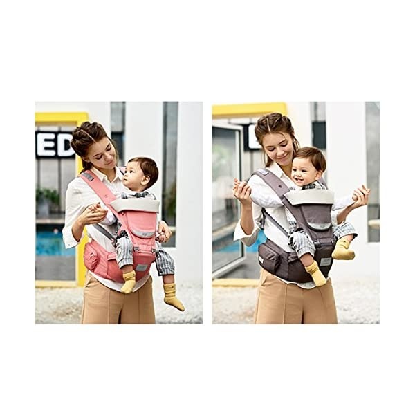 SONARIN 3 in 1 All Season Breathable Hipseat Baby Carrier,Sun Protection,Ergonomic,Multifunction,Easy Mom,Adapted to Your Child's Growing, 100% Guarantee and Free DELIVERY,Ideal Gift(Pink) SONARIN Applicable age and Weight:0-36 months of baby, the maximum load: 30KG, and adjustable the waist size can be up to 45.3 inches (about 115 cm). Material:designers carefully selected soft and delicate Cotton cloth. Resistant to wash, do not fade, ensure the comfort and wear resistance, Inner pad: EPP Foam,high strength,safe and no deformation,to the baby comfortable and safe experience. Description: patented design of the auxiliary spine micro-C structure and leg opening design, natural M-type sitting.Side double storage bag, store mobile phones, wipes and other necessities. H-type bridge belt, effectively fixed shoulder strap position, to prevent shoulder straps fall, large buckle, intimate design, make your baby more secure. 4