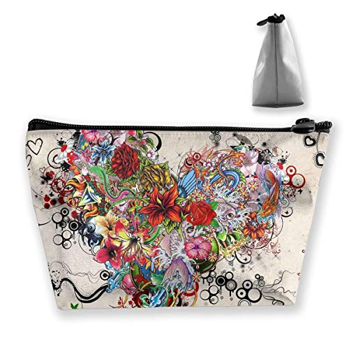 Sugar Skull and Roses Retro Style Multi-Functional Trapezoidal Storage Bag Toiletry Bag Zipper Receive Bag (Skulls Sugar Männlich)