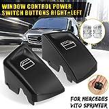 YUSHHO56T Fensterschalter-Knöpfe für Autoinnenraum-Teile, Schalter, 1 Paar, für Mercedes Benz Vito Sprinter - Schwarz