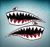 Akachafactory Autocollant Sticker Voiture Avion Aviation aeroport Requin Shark