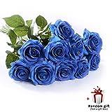 Rosas artificiales de seda JUDY - Nunca marchitas flores, amor eterno.  Material: Tela de seda, plástico, alambre de hierro (tallos de flores envueltos)  El paquete incluye: 10 paquetes de rosa de seda y una  aplicación  de regalo al azar Las...