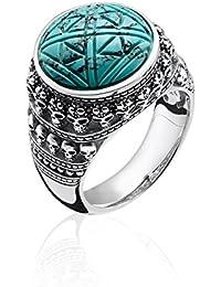 Damen 8 Stein Türkis Ring Sterlingsilber Fine Rings Other Fine Rings