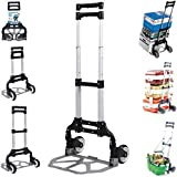 FDS 75KG Aluminum Folding Hand Sack Parcel Boot Cart Luggage Barrow Trolley