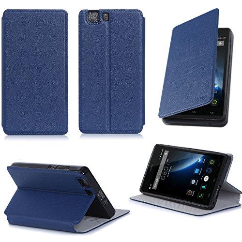 Doogee X5 / X5 PRO / X5S Tasche Leder Hülle blau Cover mit Stand - Zubehör Etui Doogee X5 / X5 PRO / X5S Flip Case Schutzhülle (PU Leder, Handytasche blue) - XEPTIO accessories