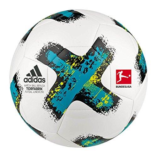 adidas Torfabrik Junior Sala 290 Fußball 2017/2018 Ball, White/Eneblu/Black/Sy, Futs
