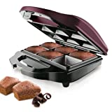 Taurus Brownie & Co - Máquina para hacer brownies, 700 W, color negro y burdeo