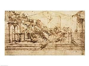 Leonardo Da Vinci Tude De Perspective Pour Le Fond De L