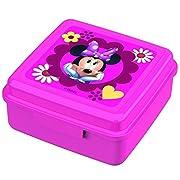 Disney Topolino Minnie Mouse - Box Spuntino Lunchbox Portamerenda 13 x 13 x 6,5 cmPer ipanini,verdure,barrettedicerealiu.v.m.Snack Box in materiale moltorobusto.Chiusura:Click-UpMateriale:polipropilenePPDimensioni: 13x13x6,5cen...