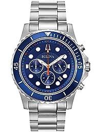 Bulova Mens Chronograph Quartz Watch with Stainless Steel Strap 98B325