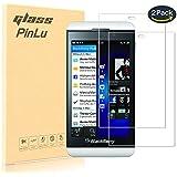 [2 Pack] Protector de pantalla de cristal para Blackberry Z10 pinlu® Protector Cristal Vidrio Templado para Blackberry Z10 [9H/2.5D/0.26mm, 99% Transparente]
