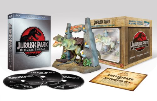 Jurassic Park Ultimate Trilogy (Limited Collector's Edition inkl. T-Rex Figur) [Blu-ray] [Limited Edition] Trex-dvd