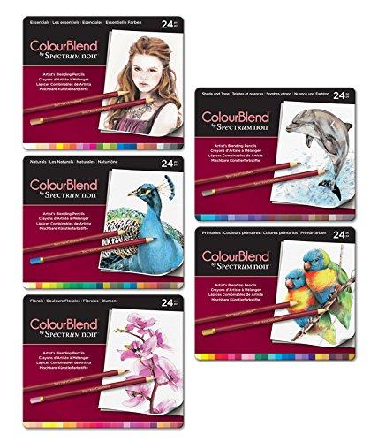 Spectrum Noir - Gemischte Buntstifte Bündel aus der Reihe ColourBlend, 5 Packe